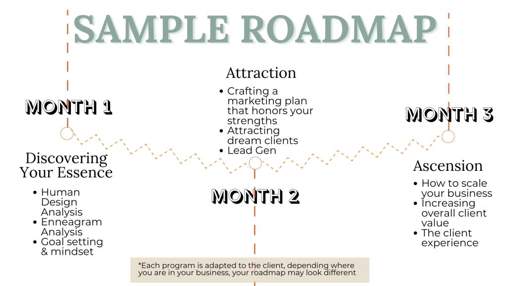 sample roadmap of program